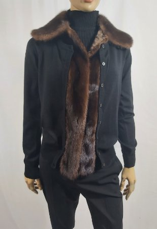 Miu Miu - Cardigan Fur Preto