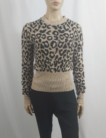 Christian Dior - Sueter Leopard Cropped