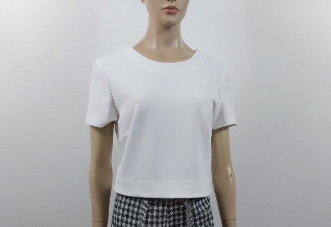 Cavendish - Top Off White Cropped
