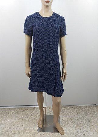 Artsy - Vestido azul quadriculado