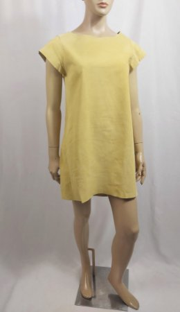 Ilya - Vestido em couro amarelo