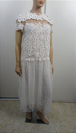 Valentino Garavani - Vestido guipure