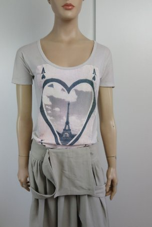 Stella McCartney - Camiseta estampa Paris