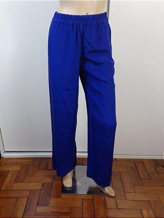 Emilio Pucci - Calça em seda azul