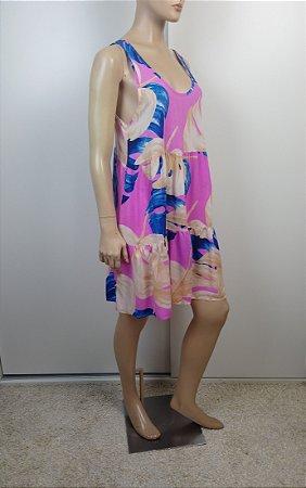 Farm - Vestido estampa rosa
