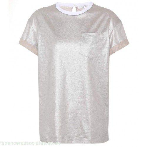 Brunello Cucineli - Tshirt metalizada