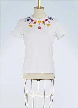Mary Katrantzou - Camiseta com aplicação