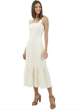 Le Lis Blanc - Vestido Lais Alfaiataia midi linho off white (Coleção Alto Verão/19)