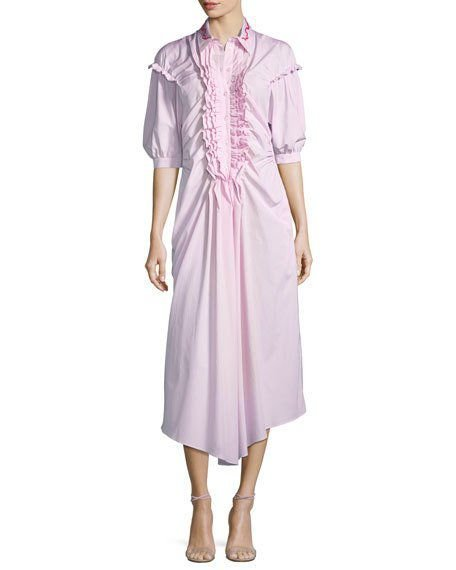 Simone Rocha - Striped Frill Front Shirt Dress