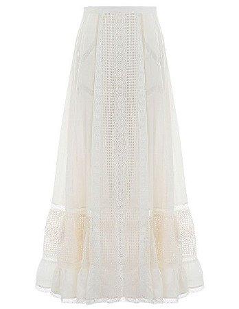 Zimmermann - Laelia Paelled long skirt
