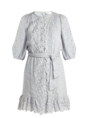 Zimmermann - Iris scallop-lace linen dress