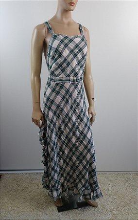 Max Studio - Vestido longo xadrez