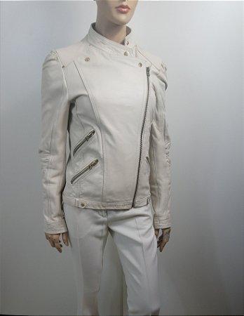 Zara - Jaqueta couro off white