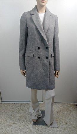Zara - Trench Coat em lã - cinza