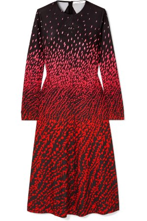 Givenchy - Printed crepe midi dress