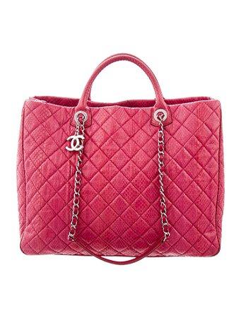 Chanel python shopper bag