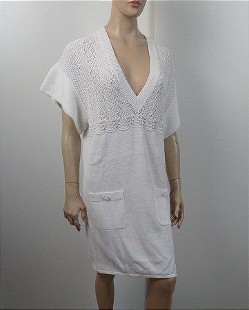 Chanel - Vestido em malha de linha