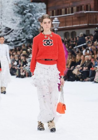 Chanel - Saia musseline de seda /  Fall Winter 2019/20