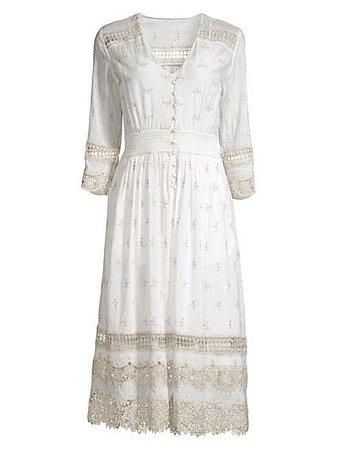 Elie Tahari - Darci Mosaic Cotton Dress