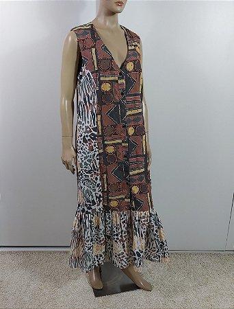 Isabella Capeto - Vestido longo estampa