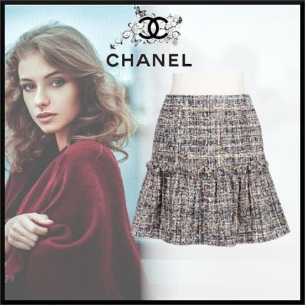 Chanel - Saia tweed curta (ss 2020)