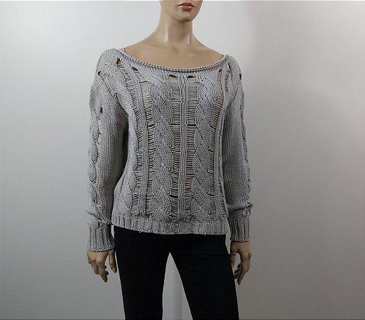 Maria Filó - Blusa tricot cinza