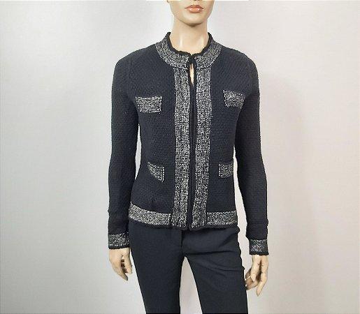 Le Lis Blanc - Casaqueto preto em tricot
