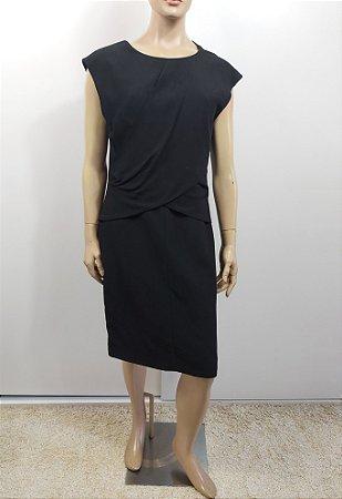 Celine - Vestido Drapeado em crepe