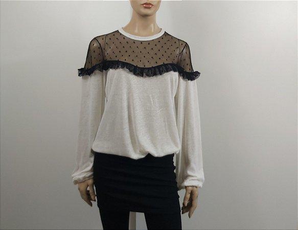 Talie nk - Blusa renda off white