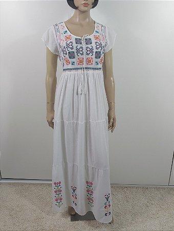 LiLa - Vestido longo algodão