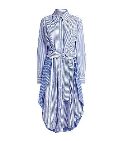 STELLA MCCARTNEY  - Vestido chemise listrado