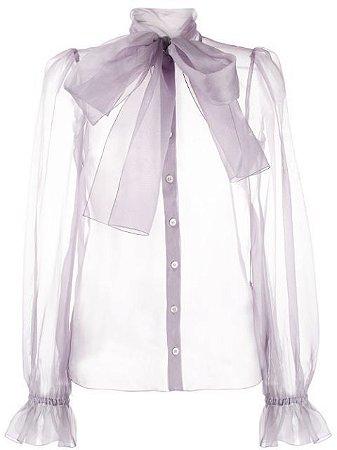 Dolce Gabbana - Organza silk top