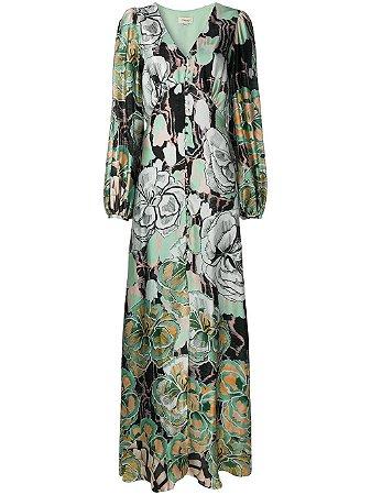 Temperley London - Vestido com abotoamento e estampa floral