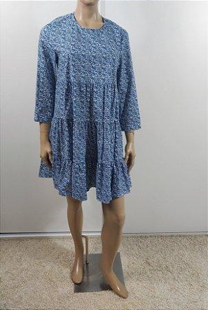 Zara - Vestido estampa azul