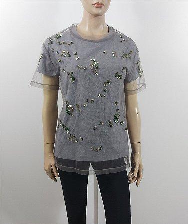 Valentino t-shirt borbada Tule