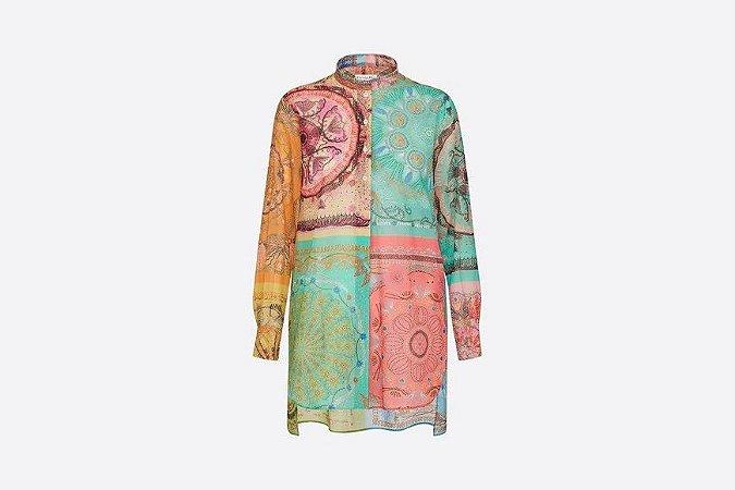 Christian Dior - Camisa em voil de algodão  Multicolor motivo In Lights