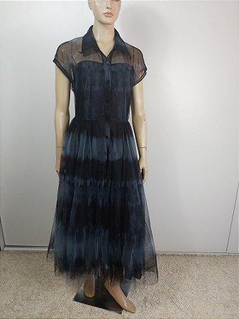 Christian Dior - Vestido tule Tie Die / Ss20