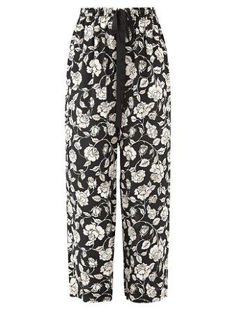 Zimmermann - calça floral em seda