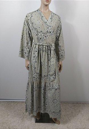 Bandane.Se - Kimono estampa verde