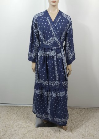 Bandane.Se - Kimono estampa azul