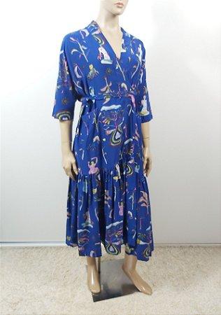 Alix - Kimono estampa seda