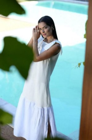 Mara Maia - Vestido linho branco / SS 20