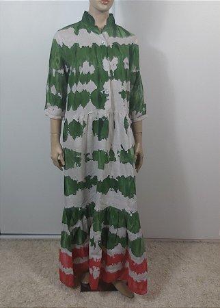 Mara Maia - Vestido longo Tie Die Linho / Ss20