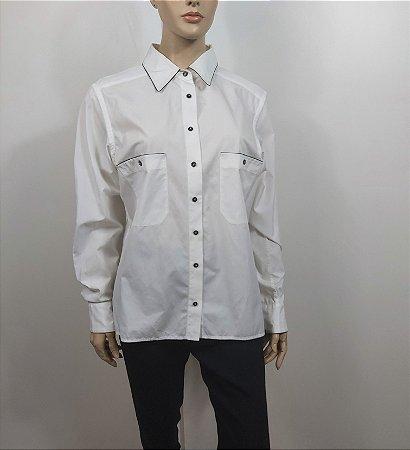 Chanel - Camisa Branca algodão
