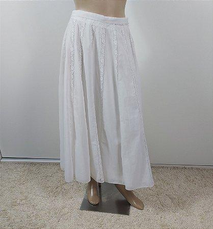 Christian Dior - Saia Recortes em renda Branca