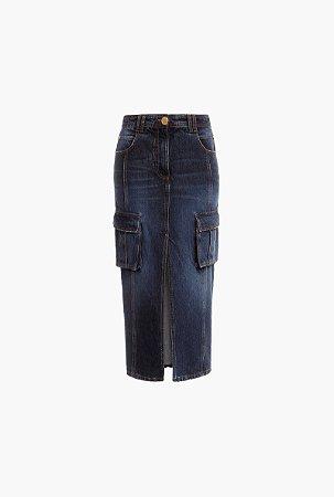 Balmain - Saia midi Jeans