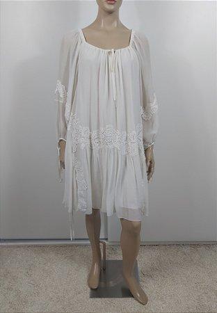 Chloé - Vestido em chifon de seda