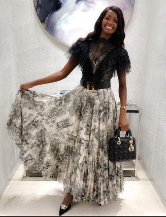 Christian Dior - Saia longa estampa zodiac