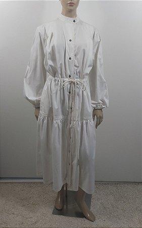 """Tela """"São Paulo"""" - Vestido off white"""