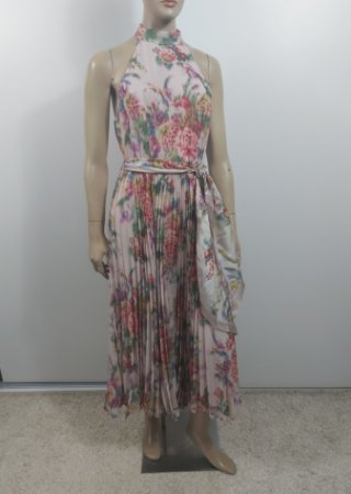 Zimmermann - Vestido floral plissado